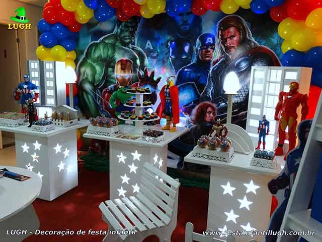 Decoração de aniversário Os Vingadores