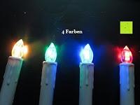 4 Farben: Yorbay® LED Weihnachtskerzen RGB/Warmweiß mit Fernbedienung mit Timerfunktion 10-100stk (20)