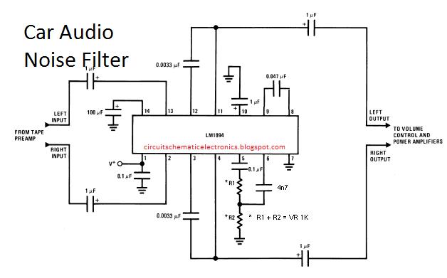Alpine Amp Bridged Wiring Diagram Car Audio Noise Filter Circuit Electronic Circuit