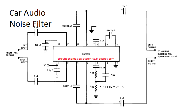 Car Audio Noise Filter Circuit Electronic Circuit