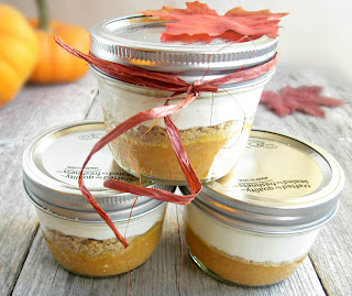 Creamy Layered Pumpkin Pie in a Jar