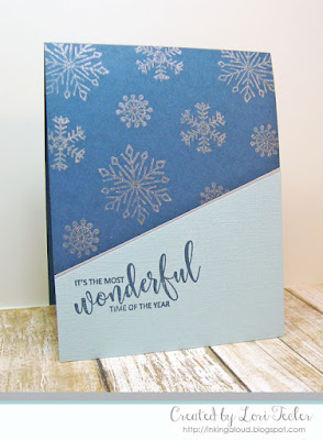 It's the Most Wonderful Time of the Year card-designed by Lori Tecler/Inking Aloud-stamps from Avery Elle