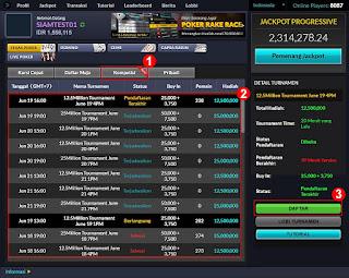 Cara Daftar Judi Turnamen Poker Online