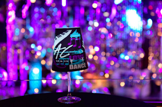 illuminated wineglass shade centerpieces