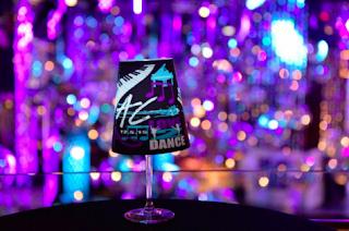 illuminated wineglass shade centerpieces