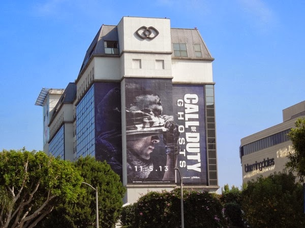 Call of Duty Ghosts video game billboard