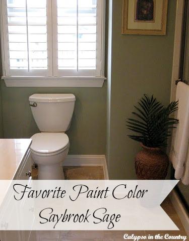 Favorite Paint Color - Benjamin Moore Saybrook Sage