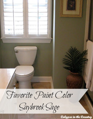 Favorite Paint Color - Benjamin Moore Saybrook Sage