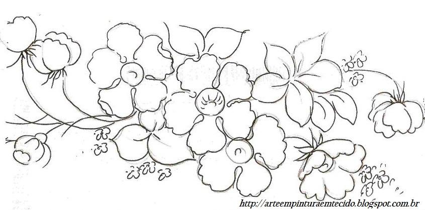 desenhos de flores para pintar em tela