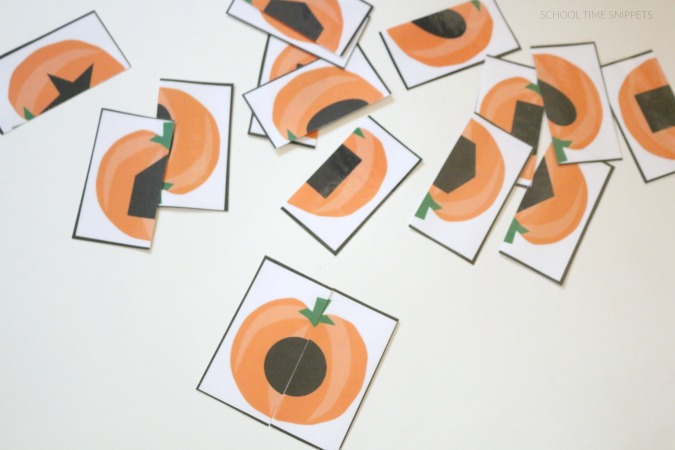 printable preschool shape matching activity