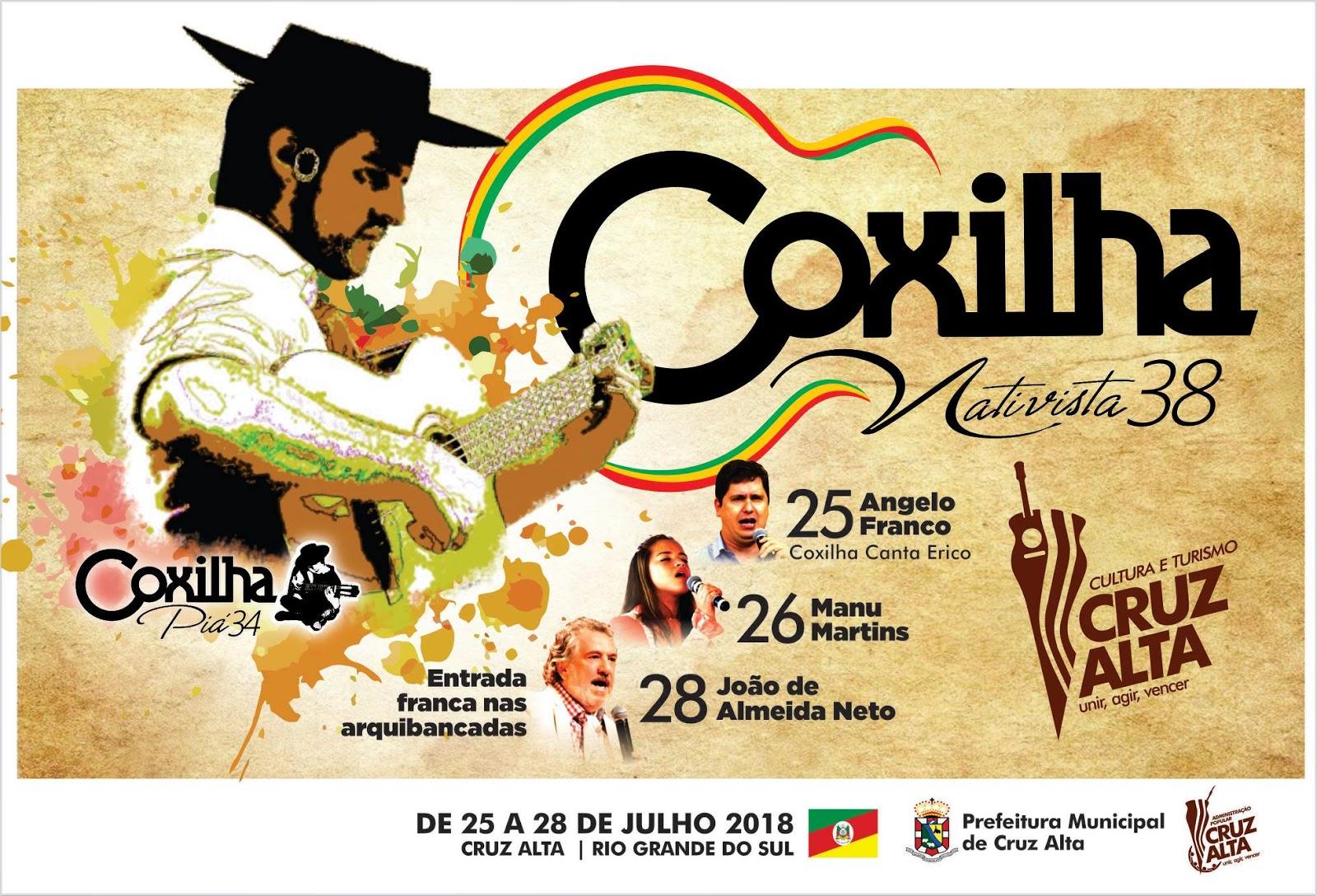 Confira a programação completa da 38ª Coxilha Nativista que inicia na próxima semana