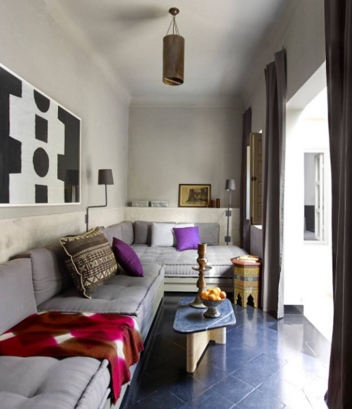 Awesome Small Old Apartment Living Room: Color Outside The Lines: Paule Marrot