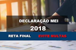 Prazo Final para Declaração do MEI 2018 termina este mês