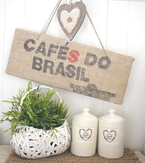 DIY - Obraz z worków po kawie