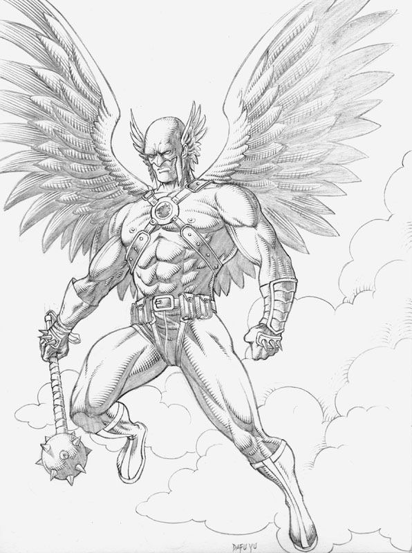 coloring pages hawkgirl | Hawkman Coloring Coloring Pages