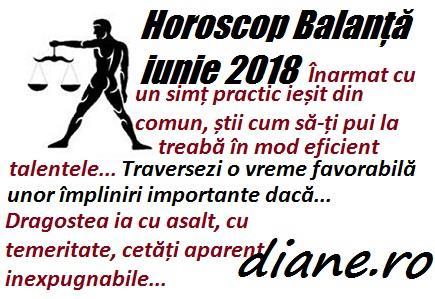 Horoscop iunie 2018 Balanță
