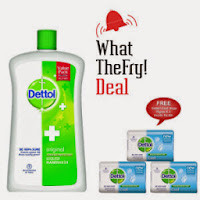 Pepperfry: Buy Dettol Hand Wash Jar 900ml + Soap 75gm pack of 3 Rs. 148