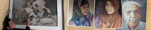 kaligrafi lukis kanvas