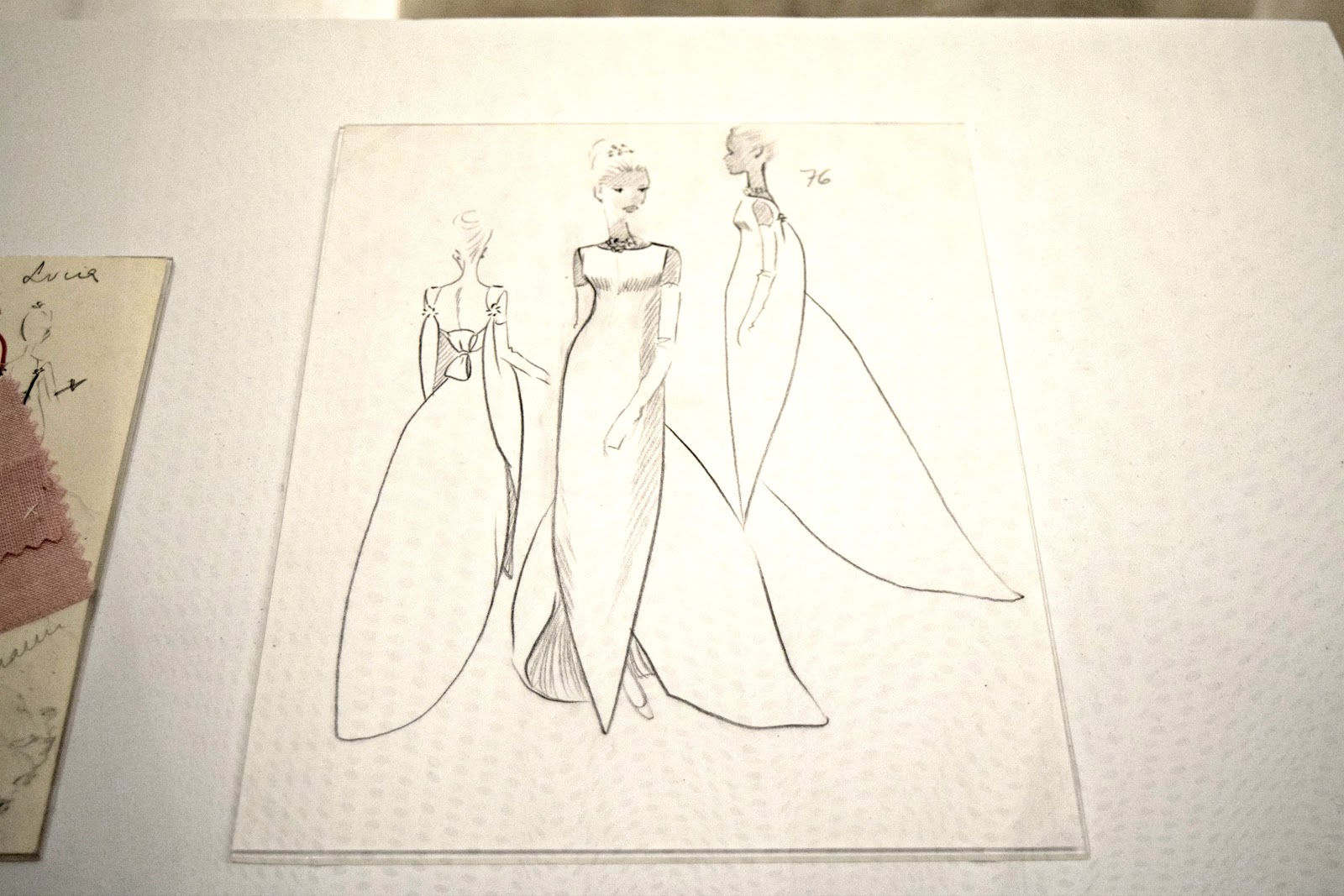 balenciaga dress sketches exhibition