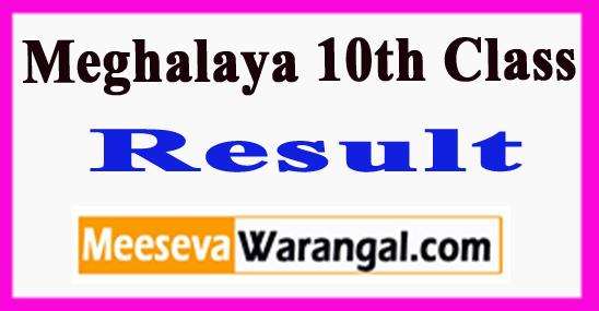 Meghalaya 10th Class Result 2018