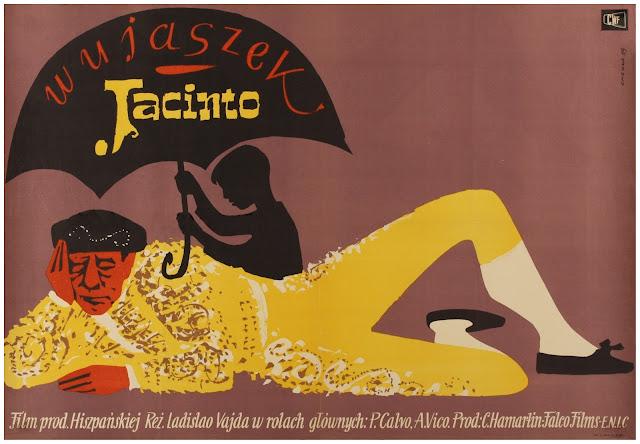 Imagen del cartel polaco de 'Mi tío Jacinto (1956)'