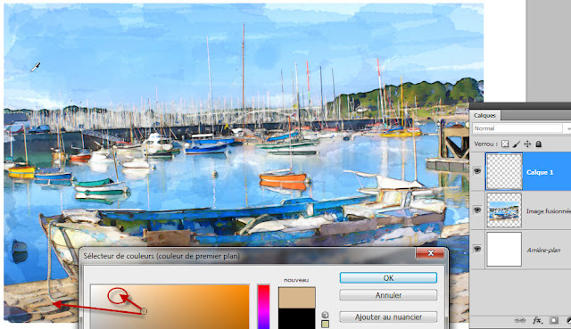 Tutorial Photoshop peinture Aquarelle -Clin doeil Design -