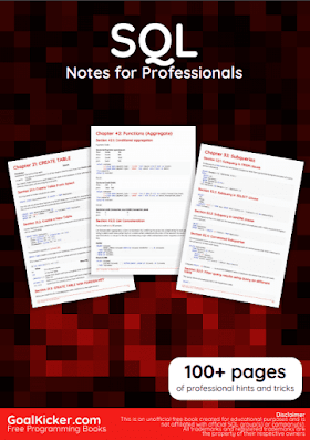 SQL PDF Book Notes | Free Download