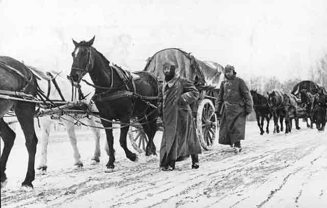 German supply column near Moscow, 29 November 1941 worldwartwo.filminspector.com