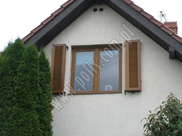 okiennice drewniane, żaluzje drewniane, okiennice z drewna,