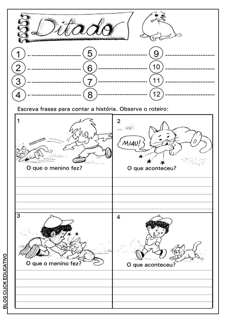 Ditado E Produção De Texto Para 2º Ano Clicks Educativos