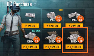 PUBG Mobile free UC Play Store BUG Get Free 8,100 UC In PUBG Mobile