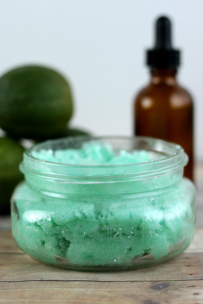 DIY Lime Mint Sugar Scrub Recipe