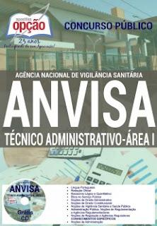 Apostila Anvisa TÉCNICO ADMINISTRATIVO (Área 1)  GRÁTIS CD