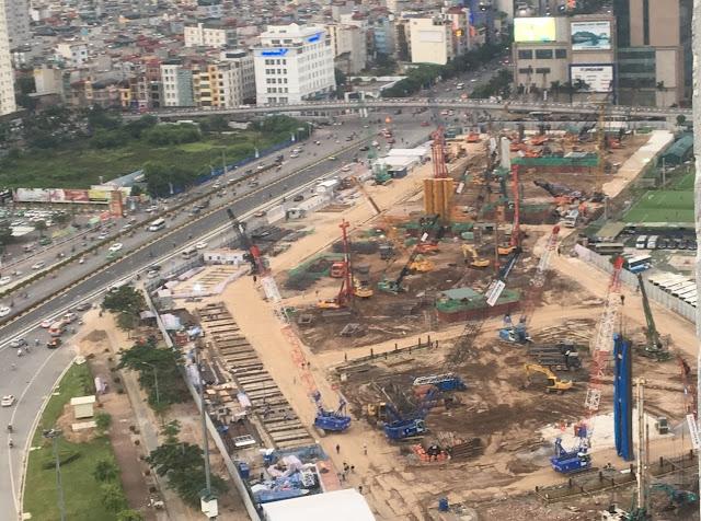 Hình ảnh thực tế tiến độ thi công chung cư Vinhomes Trần Duy Hưng ngày 03/06/2016