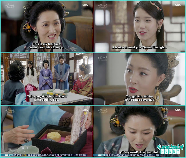 hae soo give the beauty soap to queen hwangbo & Queen yoo - Moon Lovers: Scarlet Heart Ryeo - Episode 5 Review