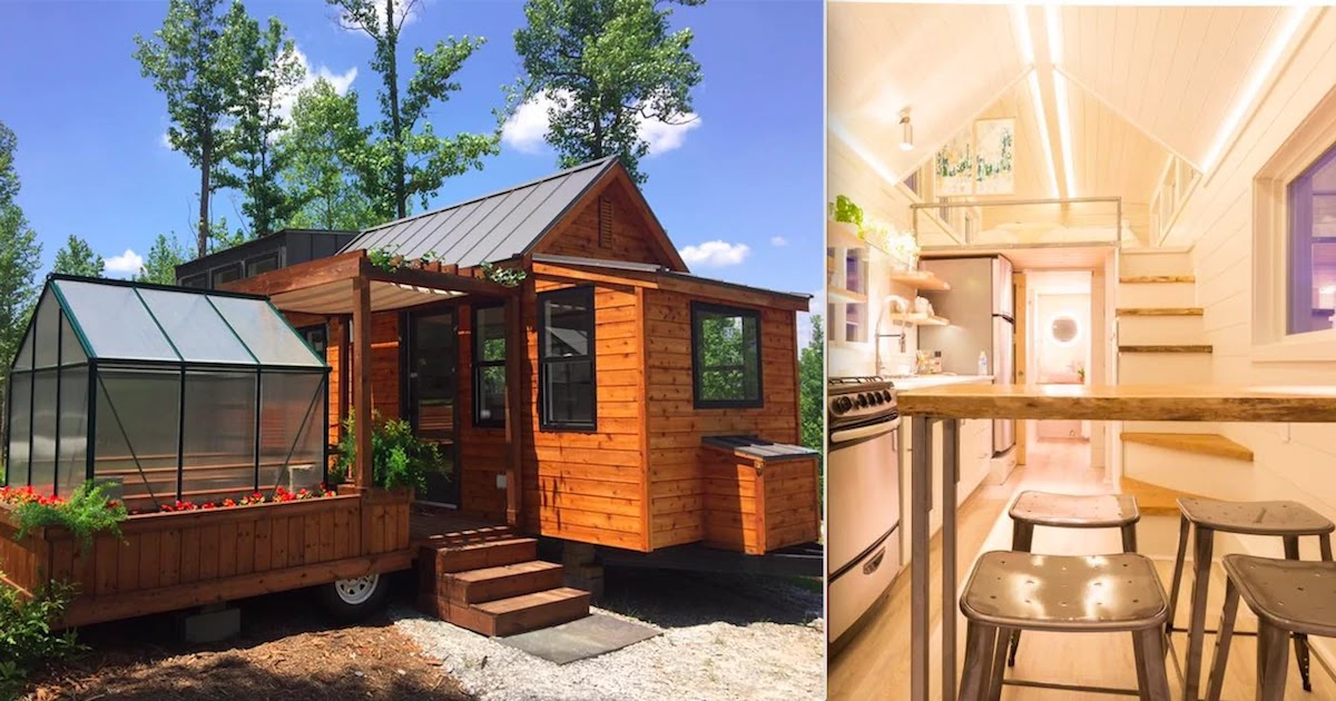 This Tiny Dream House With A Greenhouse And A Porch Can Be Taken Absolutely Anywhere!