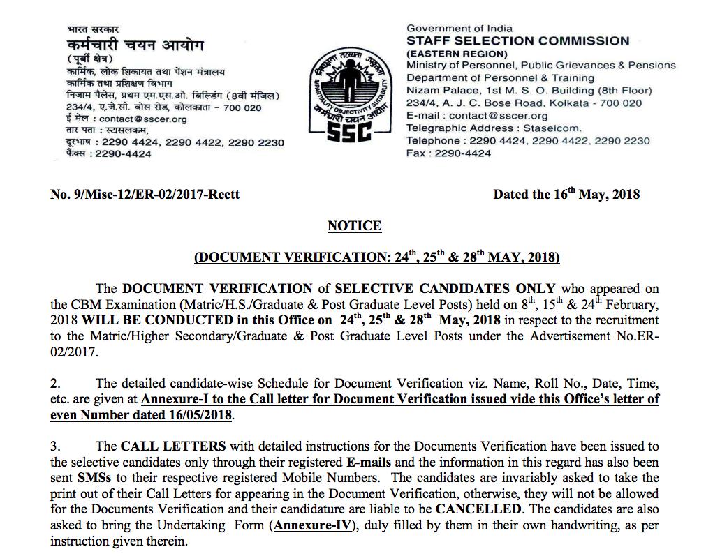 canara bank clerk document verification