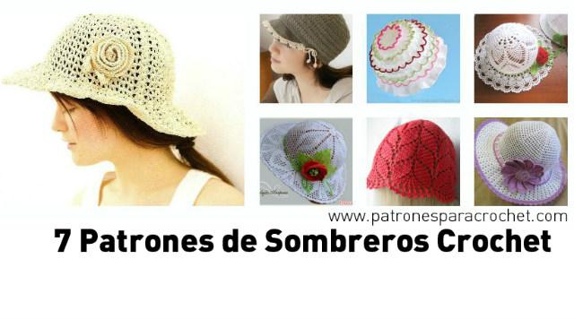 7 Patrones de Sombreros muy femeninos para tejer al Crochet 913afe04f97