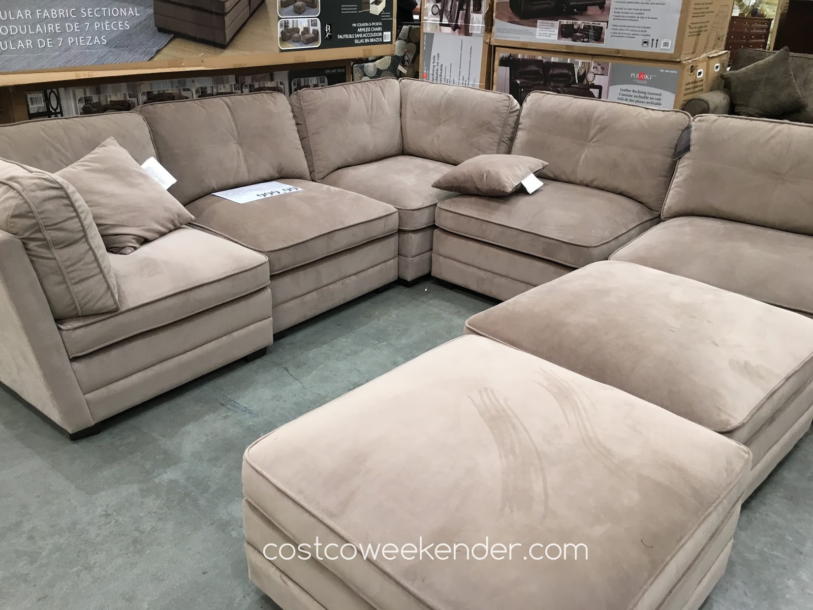 Sofa At Costco Uk Blue Suede Fabric Corner Review Home Co