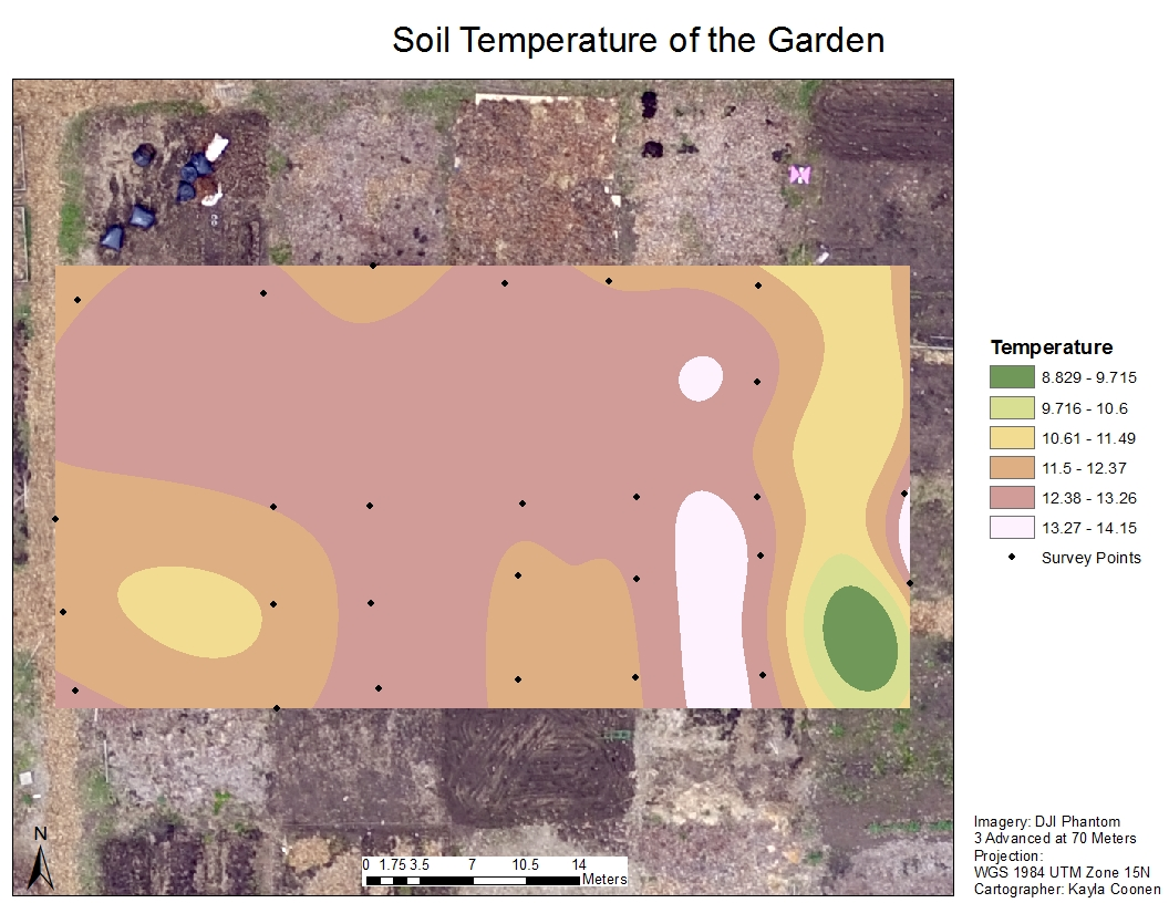 Geography 336 geospatial field methods exercise 10 for Soil temperature