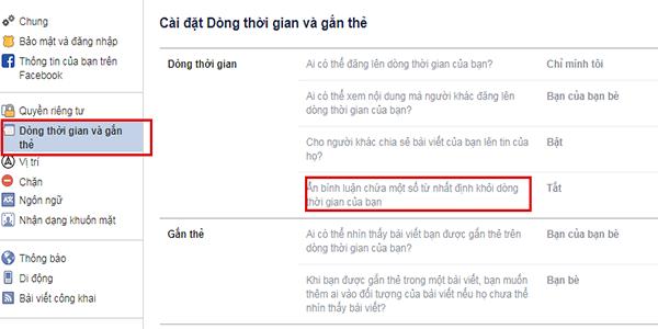 an binh luan facebook