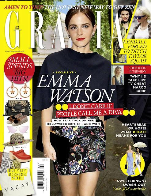 Actress, Model, @ Emma Watson - Grazia UK July 2016