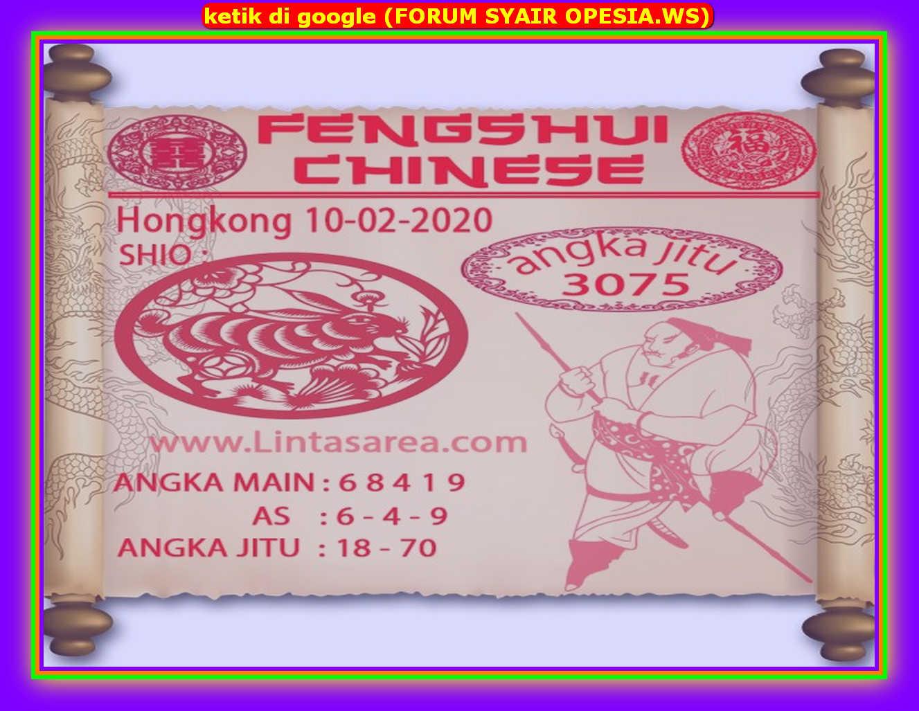 Kode syair Hongkong Senin 10 Februari 2020 117