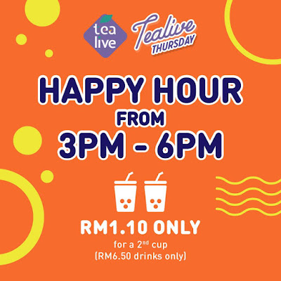 Tealive Asia Unitea Card Member Happy Hour Thursday Promo