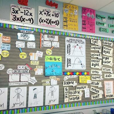 Shana McKay's classroom math word wall