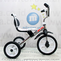 Yoe Yoe CP-S Chrome Pernekel Sandaran BMX Tricycle