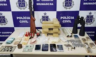Polícia apreende maconha, em Brumado