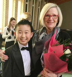 Gordon Murray Rising Star winner Devin Huang and teacher Lynn Stolola