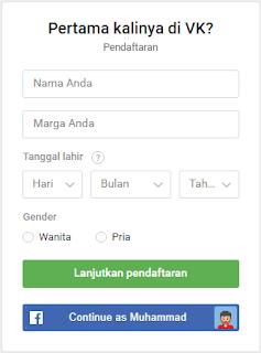 form pendaftaran akun vk