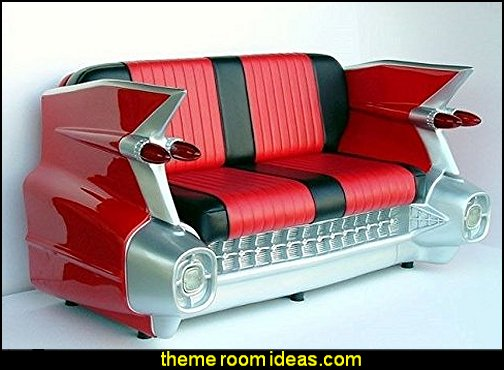 1959 Cadillac Car Sofa Retro Couch Seat Settee Free Ship 1959 Red
